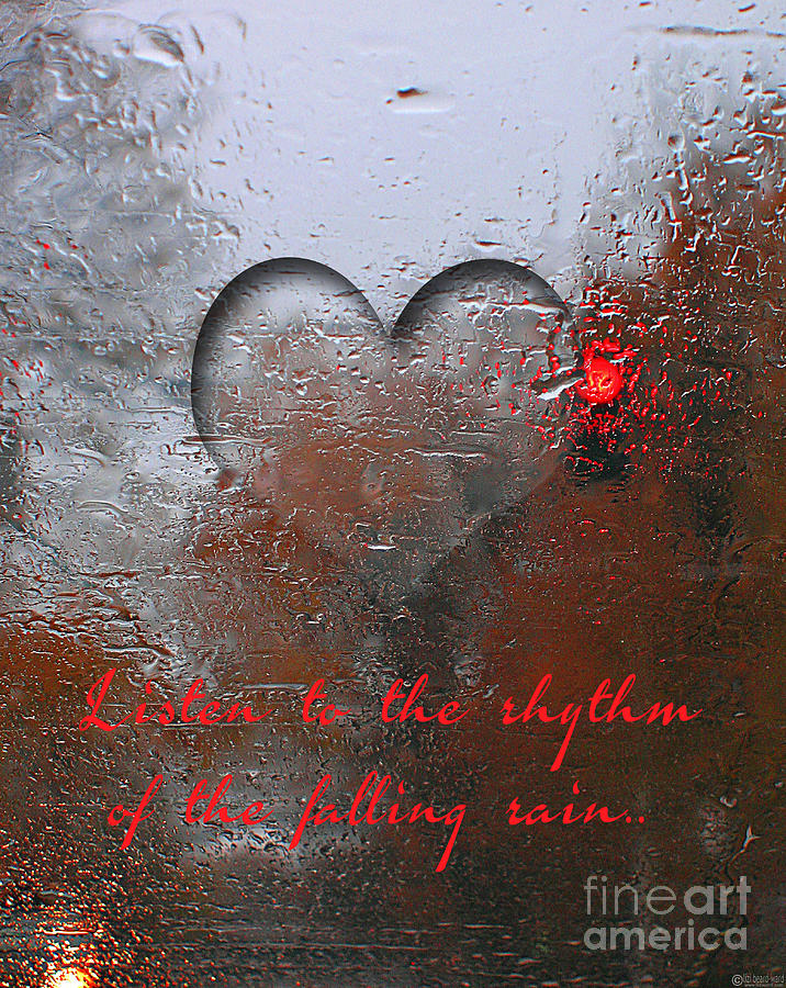 listen to the rhythm of the falling rain digital art by lizi beard ward