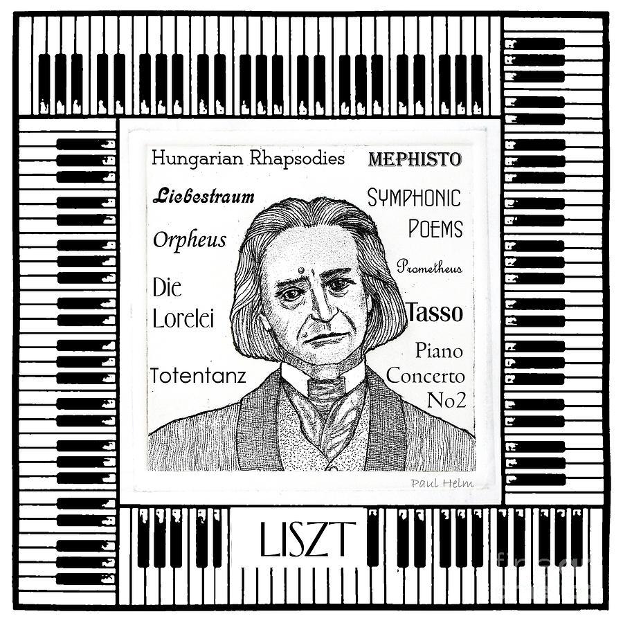 Liszt Mixed Media - Liszt by Paul Helm