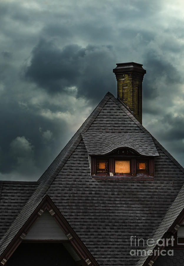 Lit Attic Window Photograph By Jill Battaglia