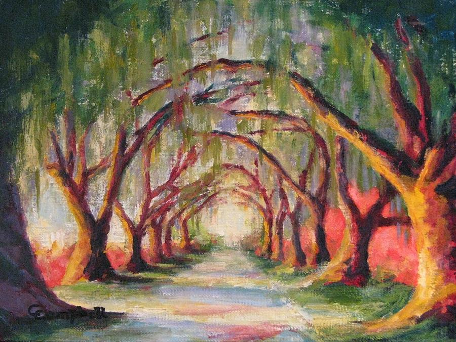 Landscape Painting - Litchfield Allee by Cecelia Campbell