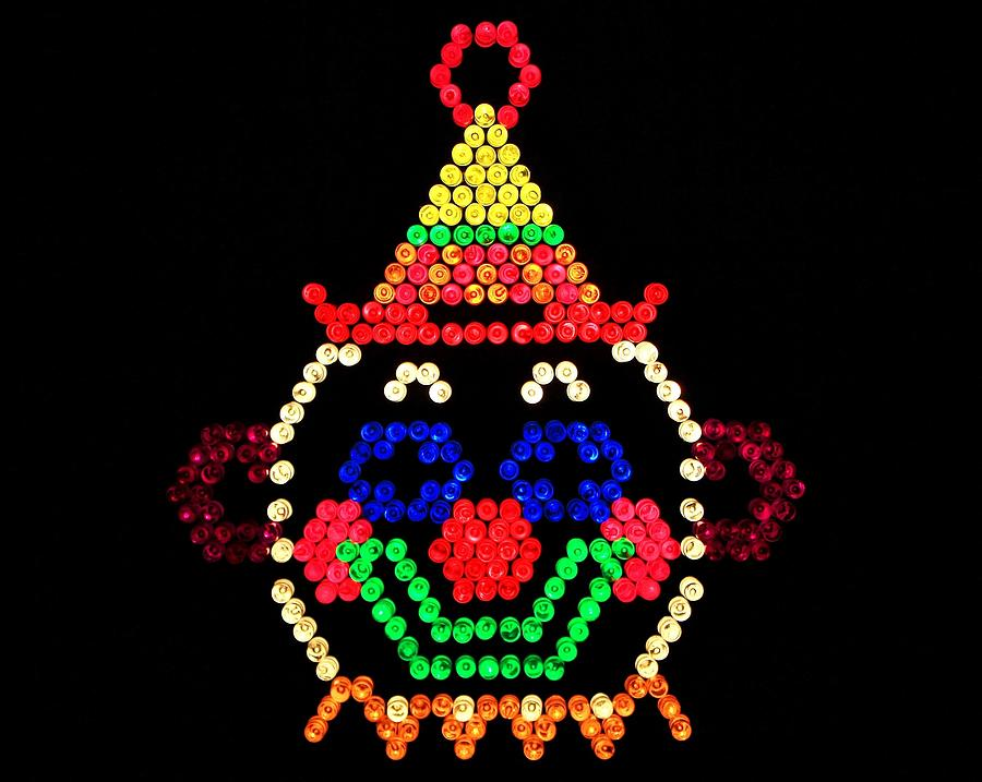 Lite Brite The Classic Clown Photograph By Benjamin Yeager