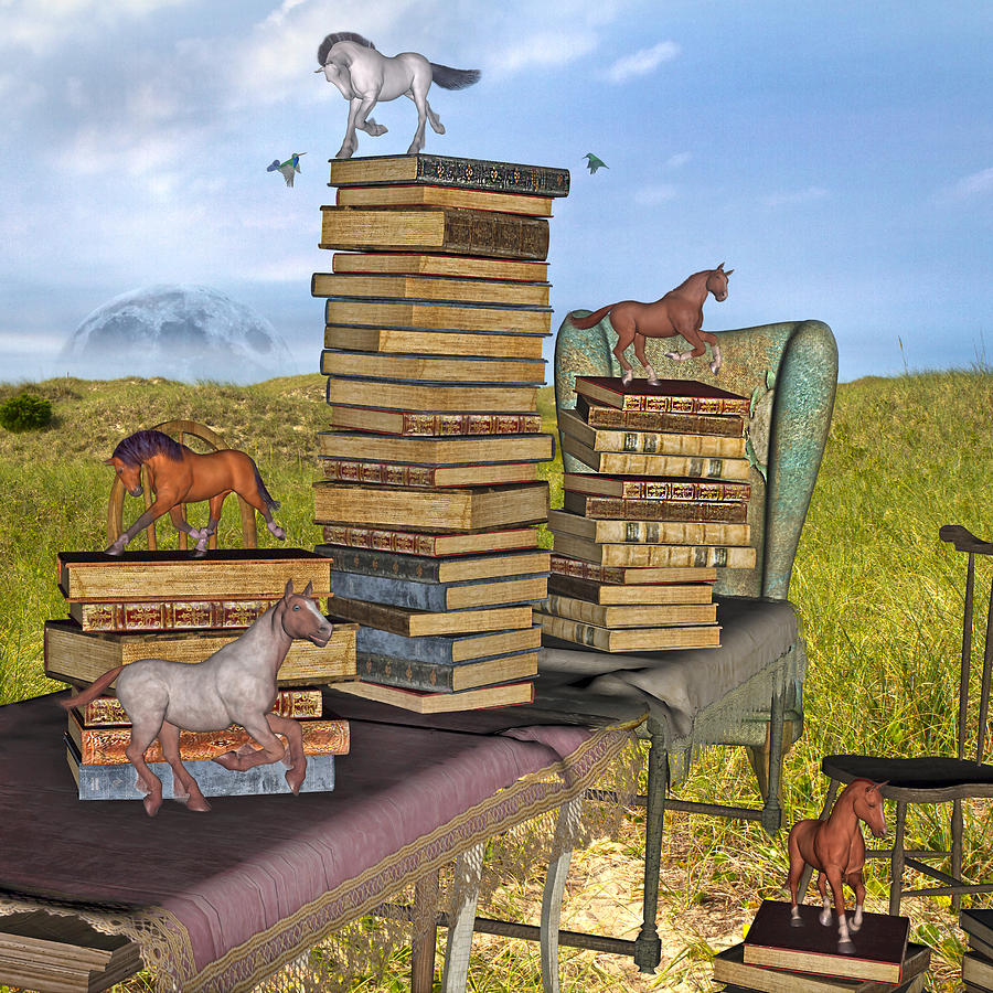 Library Mixed Media - Literary Levels by Betsy Knapp