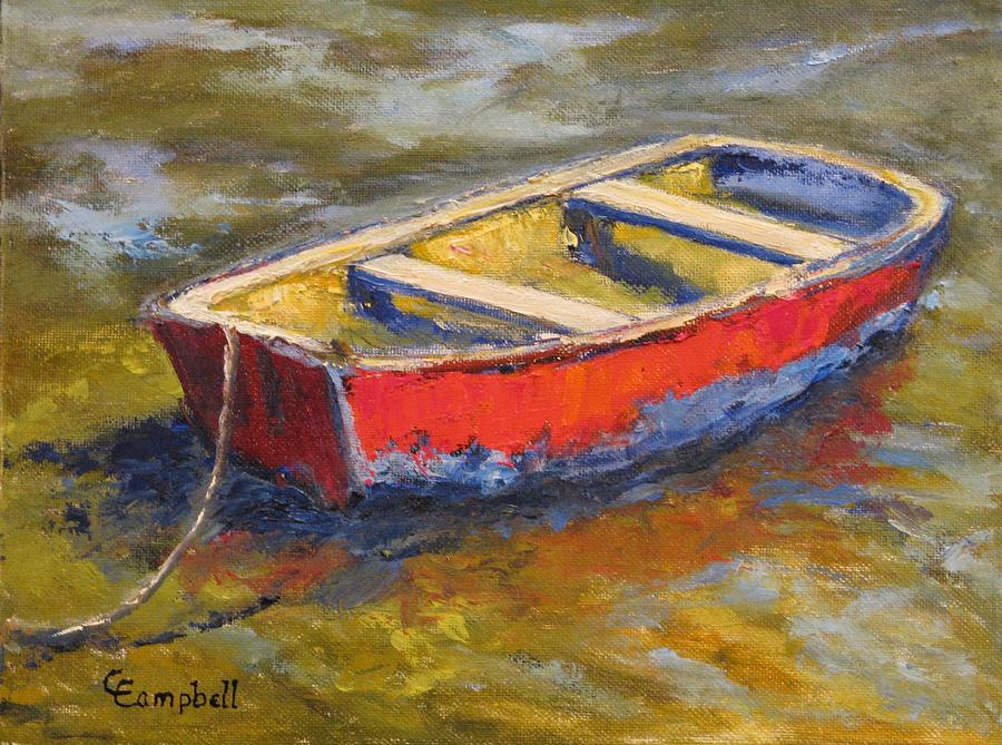 Oyster Boat Painting - Litte Boys Dream by Cecelia Campbell