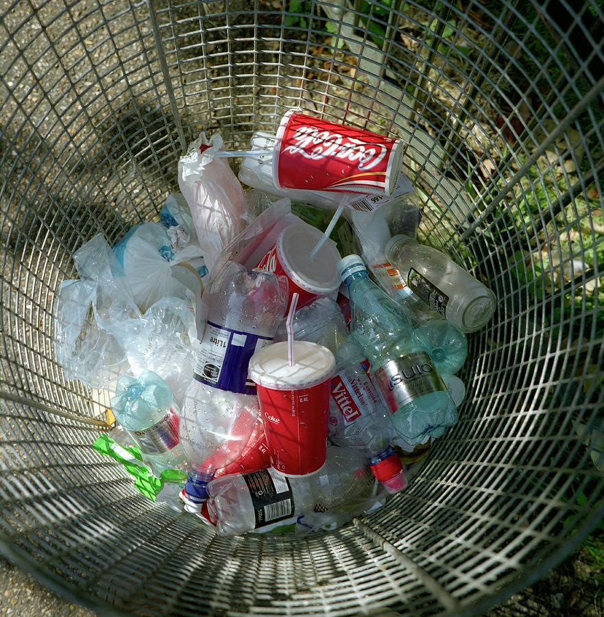 Waste Photograph - Litter Bin by Robert Brook/science Photo Library