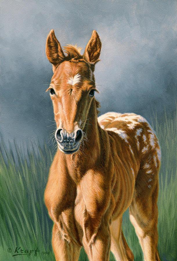 Foal Painting - Little Appy by Paul Krapf
