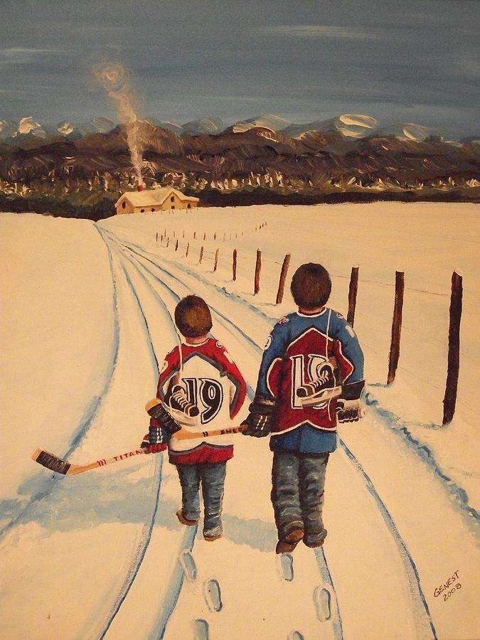 Boys Painting - Little Avs by Ron  Genest