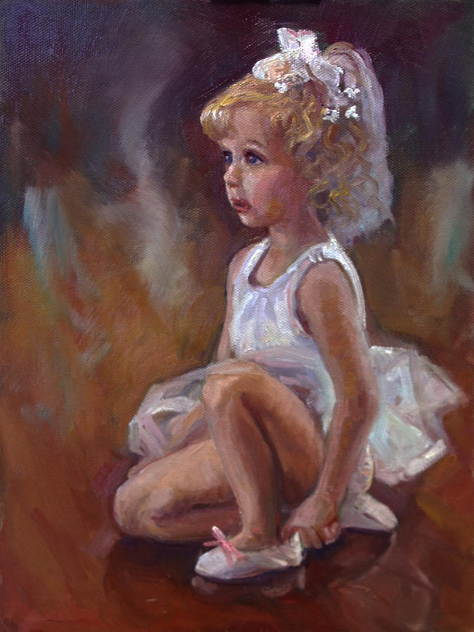 Ballerina Painting - Little Ballerina by Nora Sallows