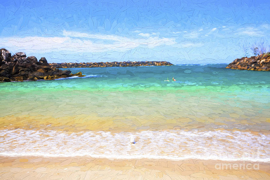 Fingal Photograph - Little Beach Nr Fingal by Sheila Smart Fine Art Photography
