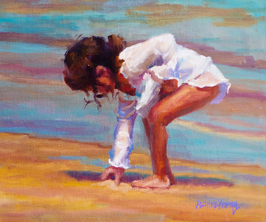 Beach Painting - Little Beachcomber by Jeanne Young