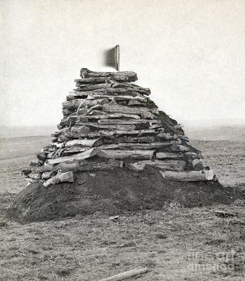 1876 Photograph - Little Bighorn Monument by Granger