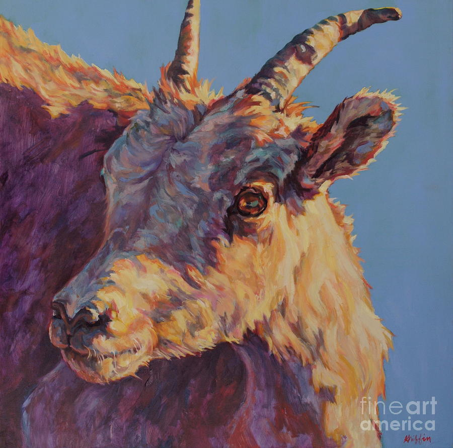 Big Horn Sheep Painting - Little Bighorn by Patricia A Griffin