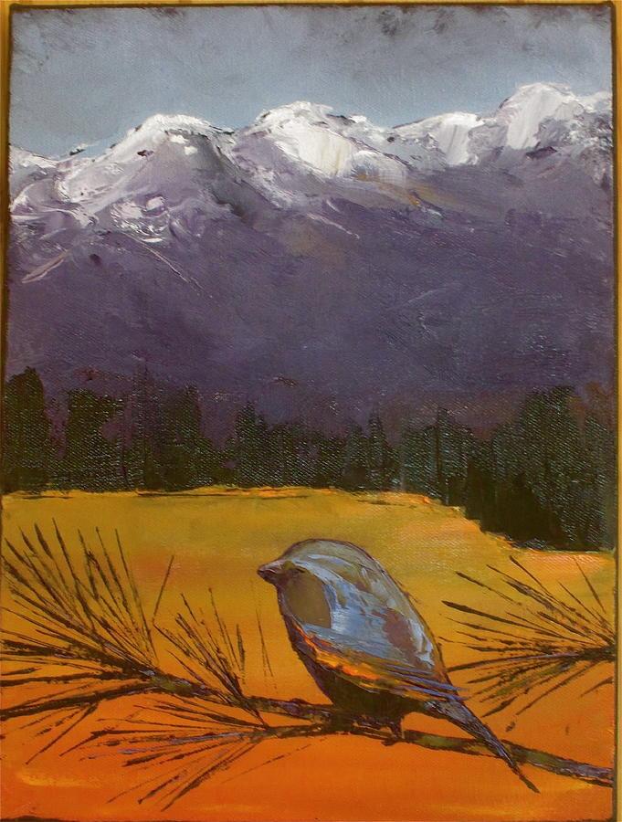 Birds Painting - Little Bird #12 by Carolyn Doe