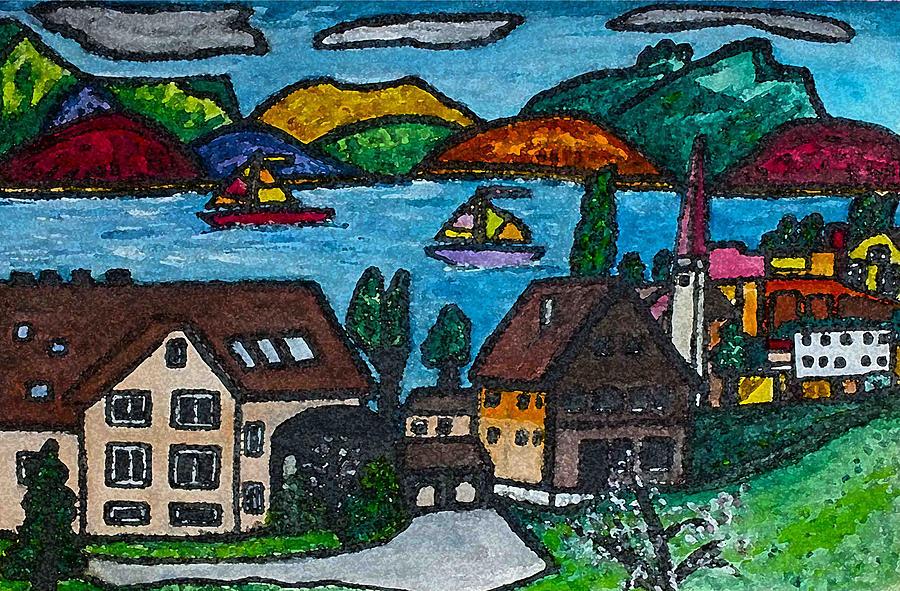 Swiss Painting - Little Bit Of Swiss by Monica Engeler