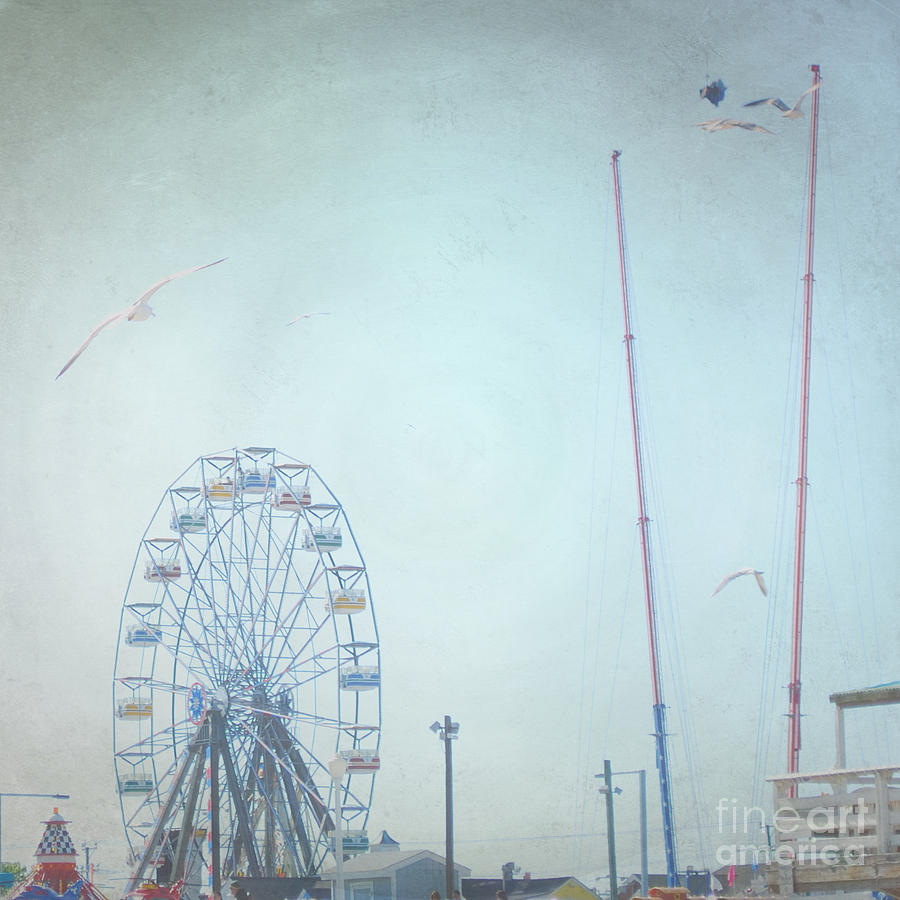 Ferris Wheel Photograph - Little Carnival Town by Sharon Coty