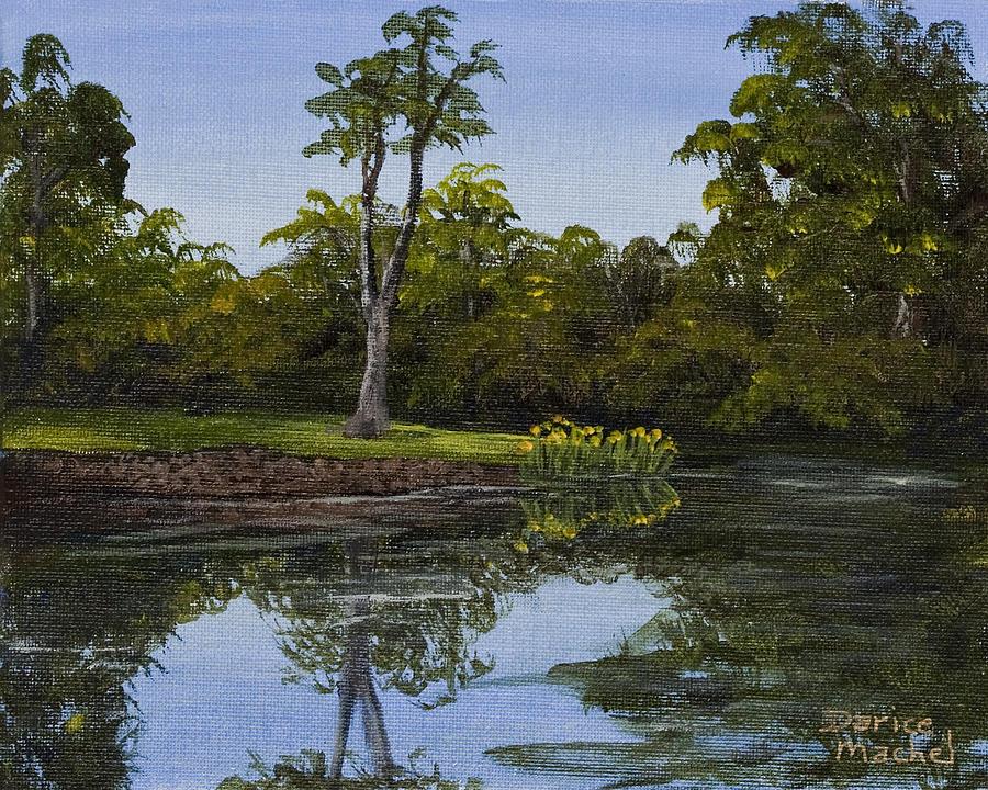 Landscape Painting - Little Chico Pond by Darice Machel McGuire