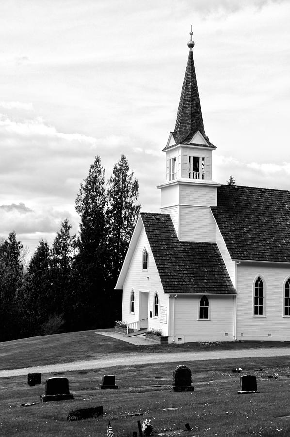 Church Photograph - Little Church On The Hill by Marv Russell