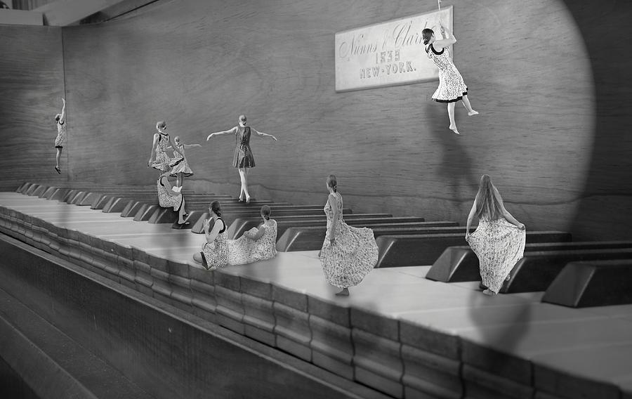 Piano Digital Art - Little Composers II by Betsy Knapp