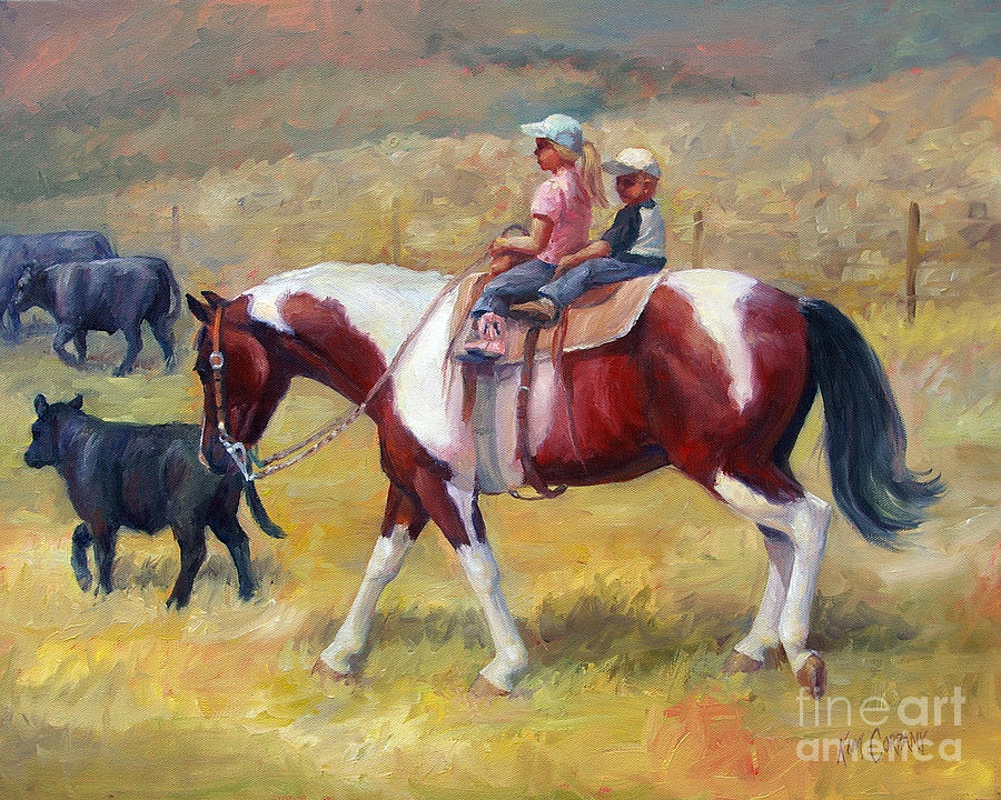 Little Cowboys Of Ruby Valley Western Art Cowboy Painting