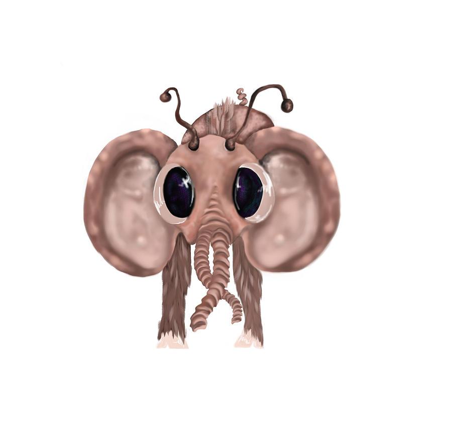Weird Creatures Digital Art - Little Critter by Corina Bishop