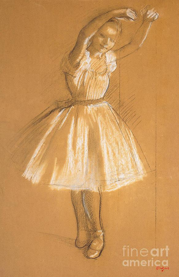 Drawing Drawing - Little Dancer by Edgar Degas