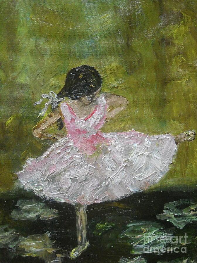 Girl Painting - Little Dansarina by Reina Resto