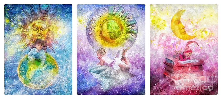 Dream Painting - Little Dream Triptic by Mo T