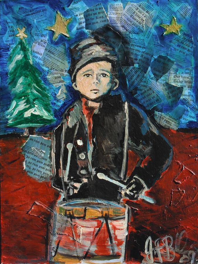 Christmas Painting - Little Drummer Boy 2009 by Jon Baldwin  Art