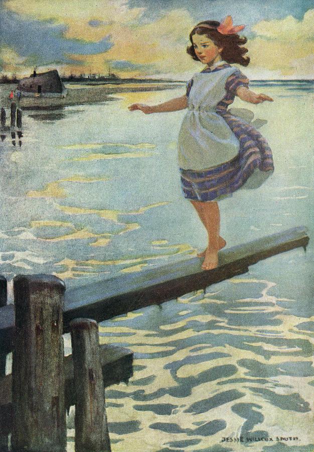 Little Emily Walking On A Plank