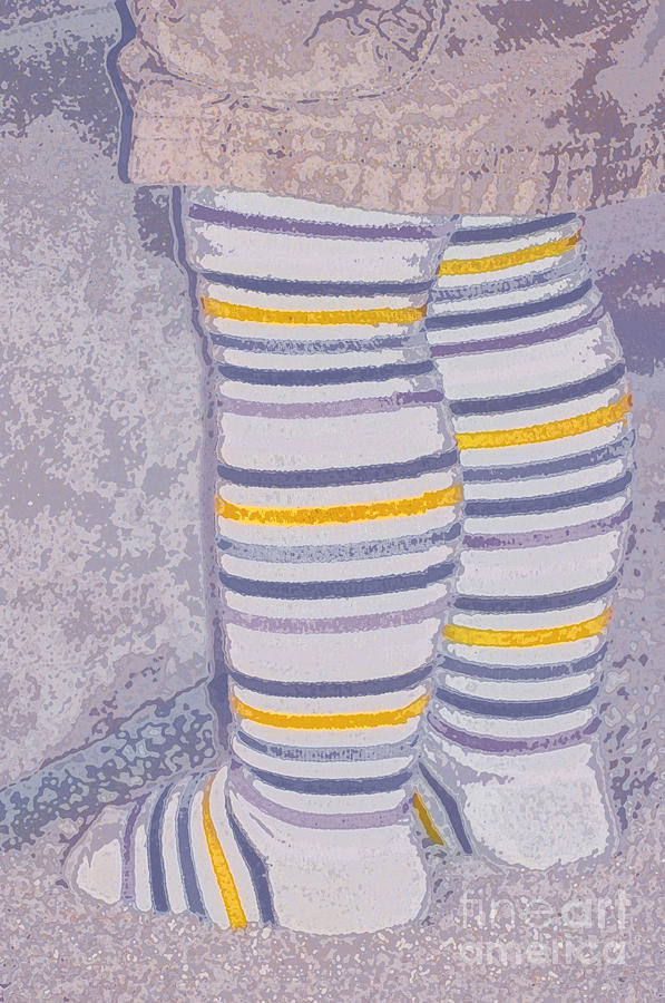 Little Photograph - Little Feet-yellow by Molly McPherson