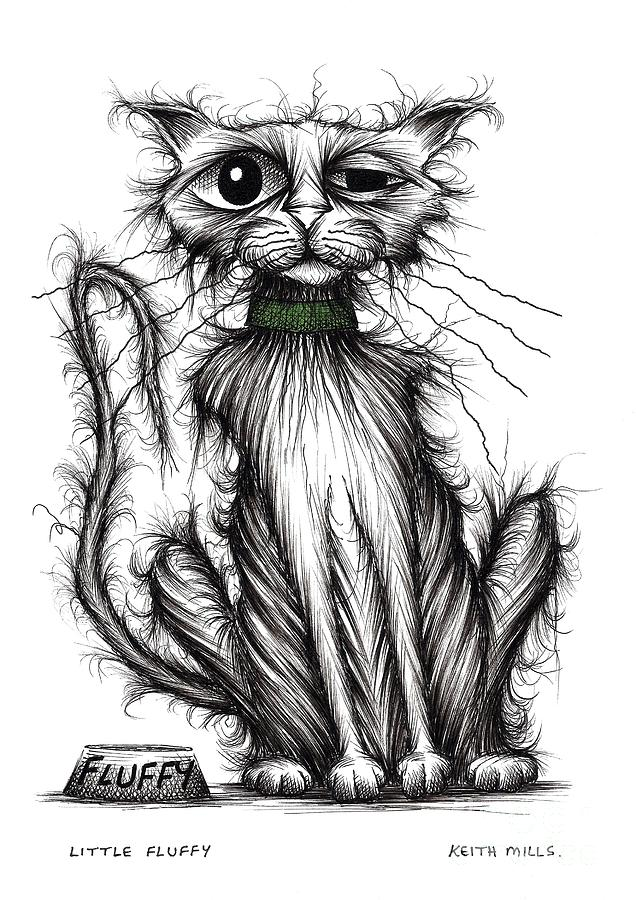 Little Fluffy Drawing By Keith Mills