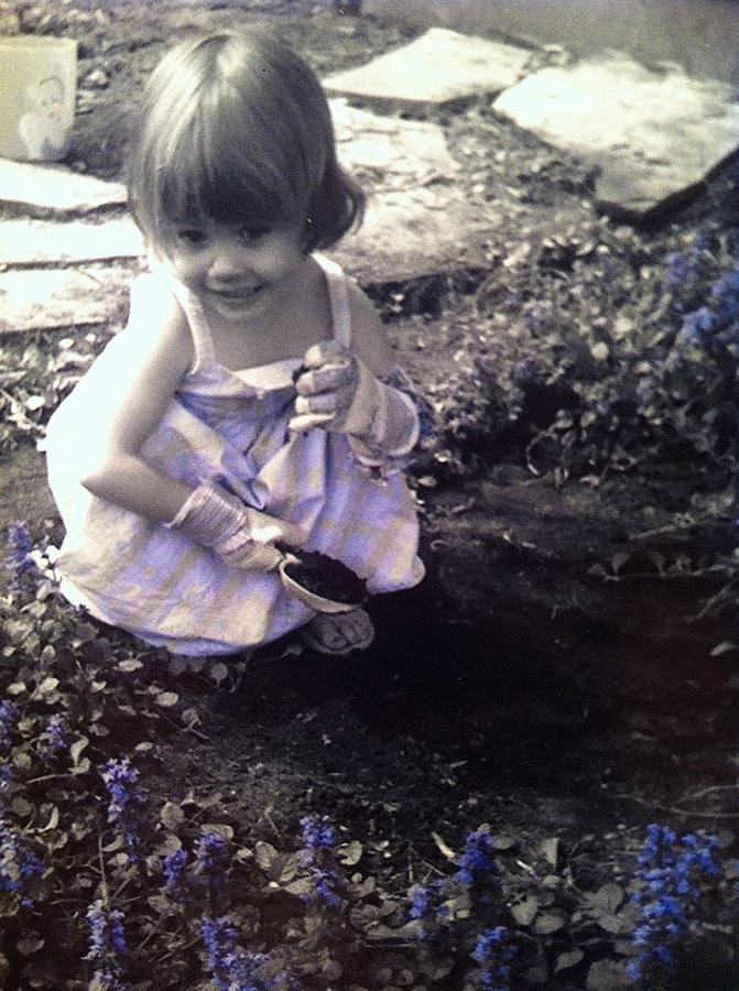 Flowers Photograph - Little Gardener by Amanda Lavoy