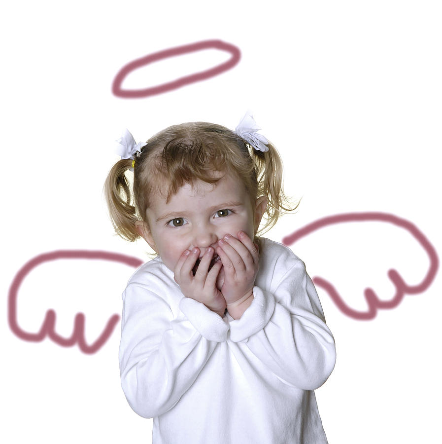 Adorable Photograph - Little Girl Angel by Lane Erickson