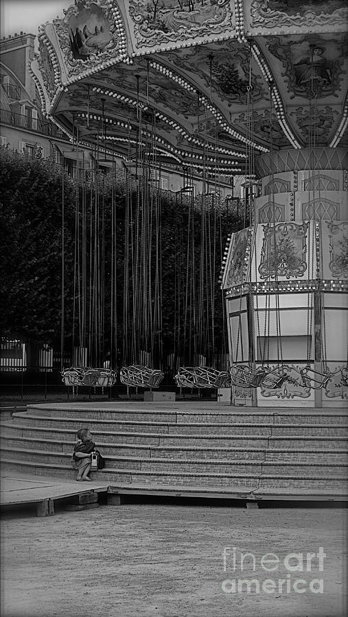 Little Photograph - Little Girl At The Fair II by Louise Fahy