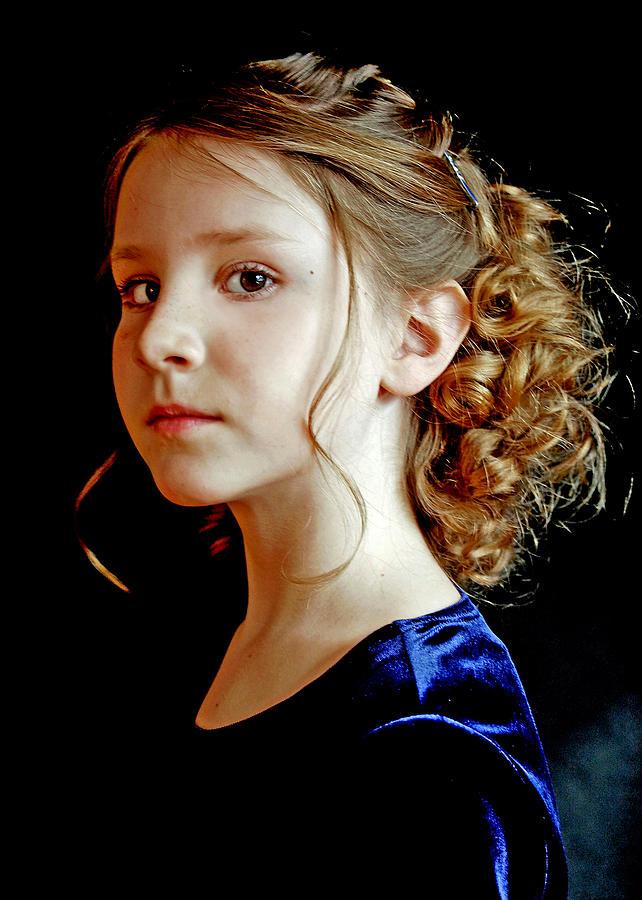 Little Girl Photograph - Little Girl Blue by Jon Van Gilder