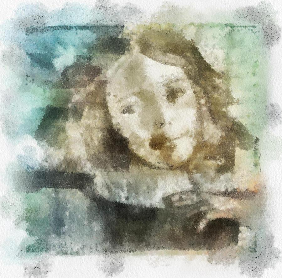 Portrait Digital Art - Little Girl by Jennifer Woodworth