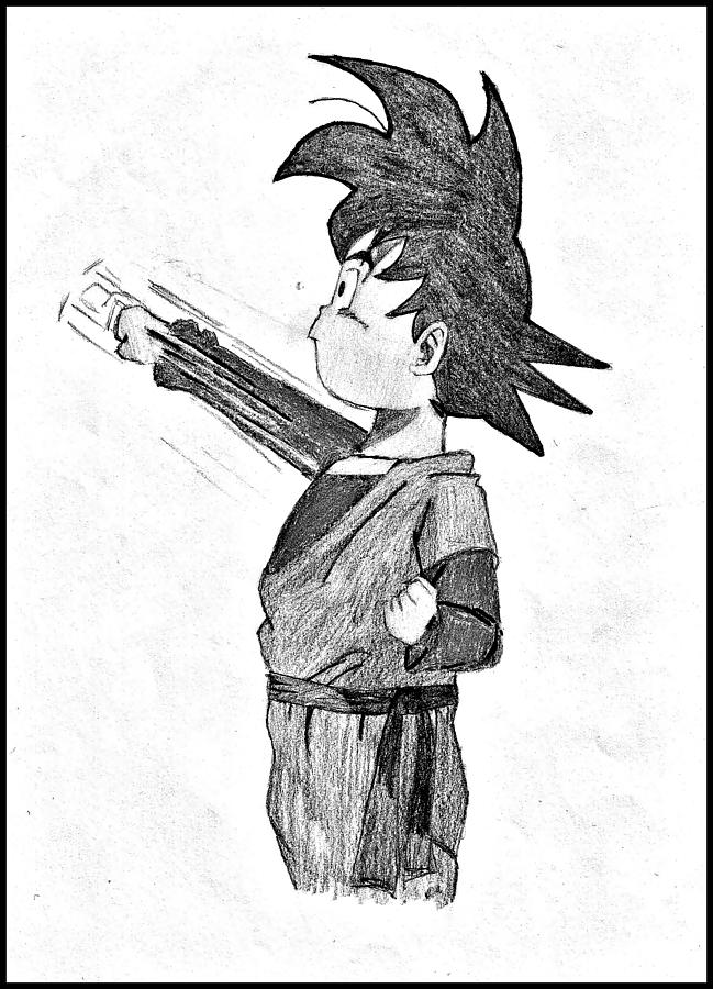 Draw pictures online drawing little goku pencil drawing by darius matuliukstis