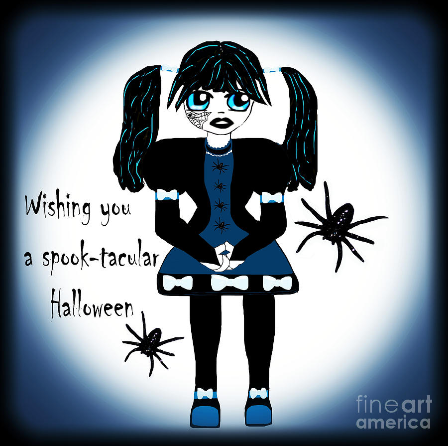 Anime Photograph - Little Goth Girl Spook-tacular by Eva Thomas