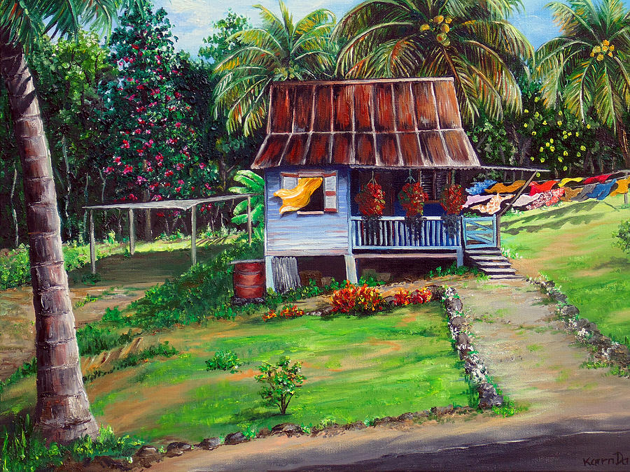 Little Island House Painting By Karin Dawn Kelshall Best