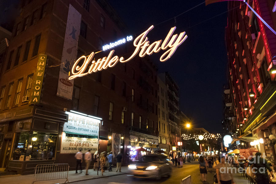 Little Italy Photograph - Little Italy Sign by Ed Rooney