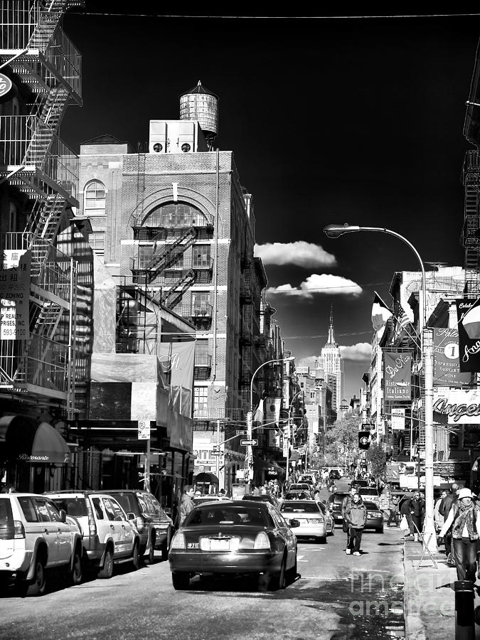 Little Italy Photograph - Little Italy Walking by John Rizzuto