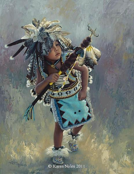 Karen Noles Digital Art - Little Kootenai Dancer by Karen Noles