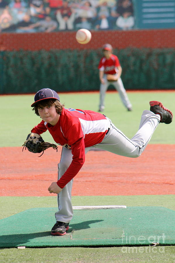 Baseball Photograph - Little League Pitcher by Lisa Billingsley