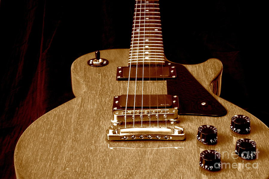 Les Paul Photograph - Little Les Can Be More by Robert Frederick