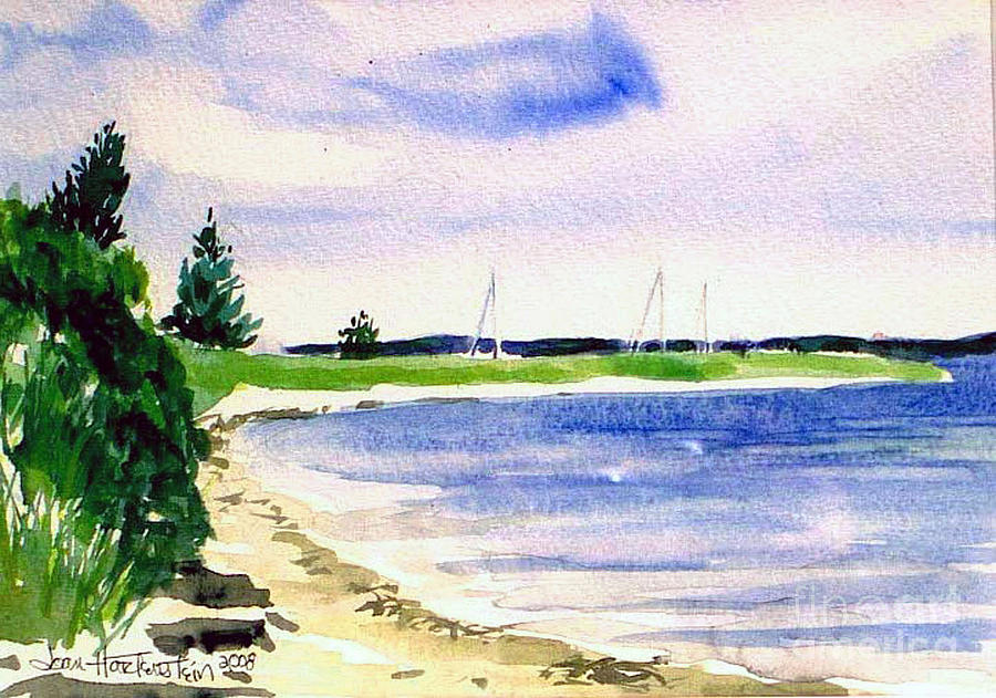 Watch Hill Cove Painting by Joan Hartenstein