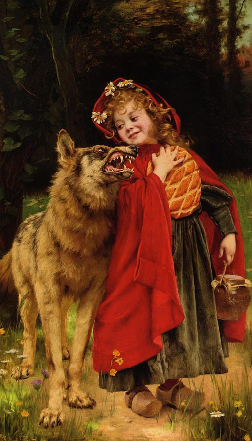 Little Red Riding Hood Digital Art - Little Red Riding Hood by Gabriel Joseph Marie Augustin Ferrier