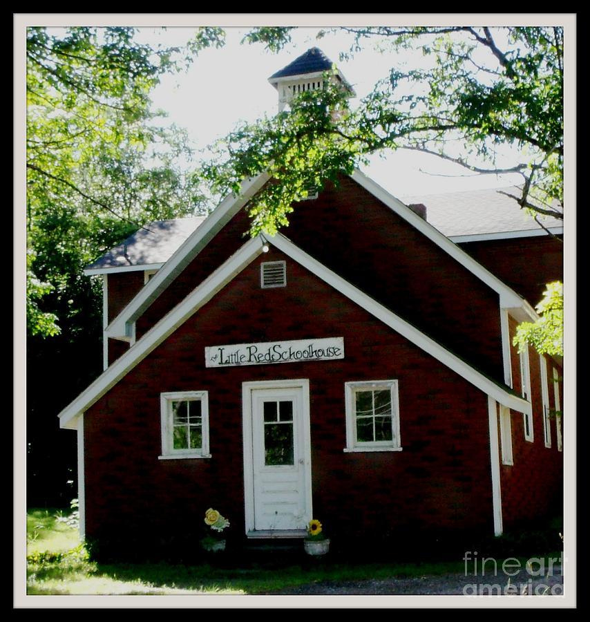 School Photograph - Little Red Schoolhouse by Gail Matthews