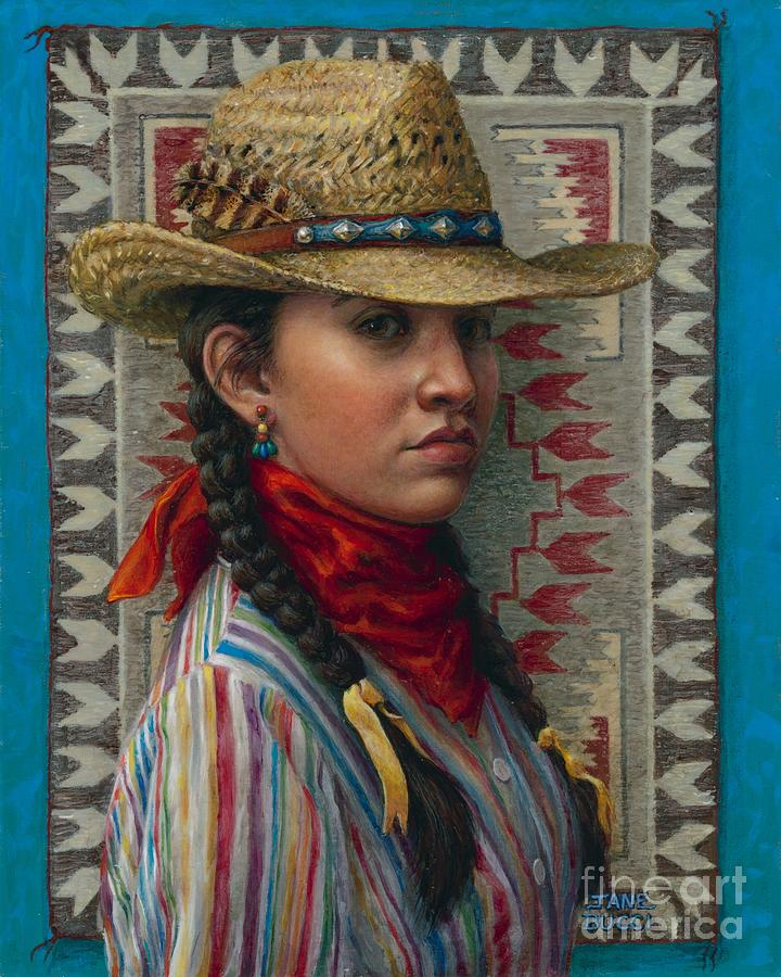Woman Painting - Little Rising Hawk by Jane Bucci