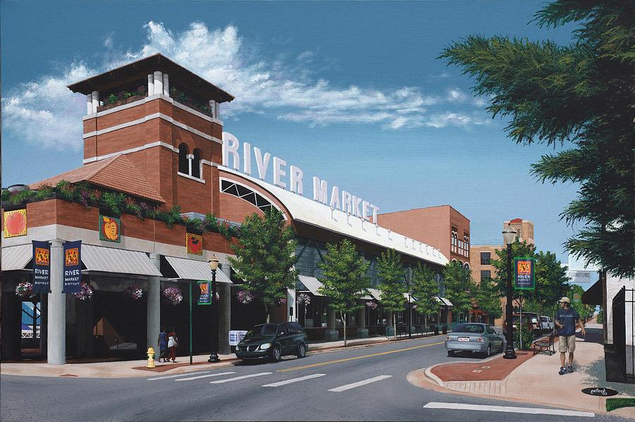 Little Rock Painting - Little Rock River Market by Glenn Pollard