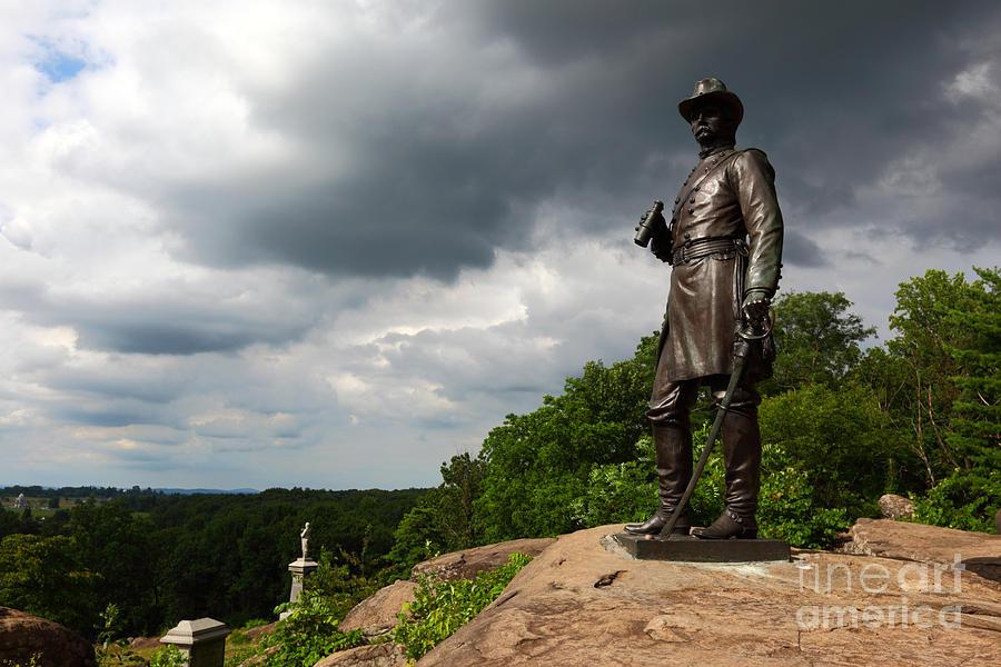 Gettysburg Photograph - Little Round Top Hill Gettysburg by James Brunker