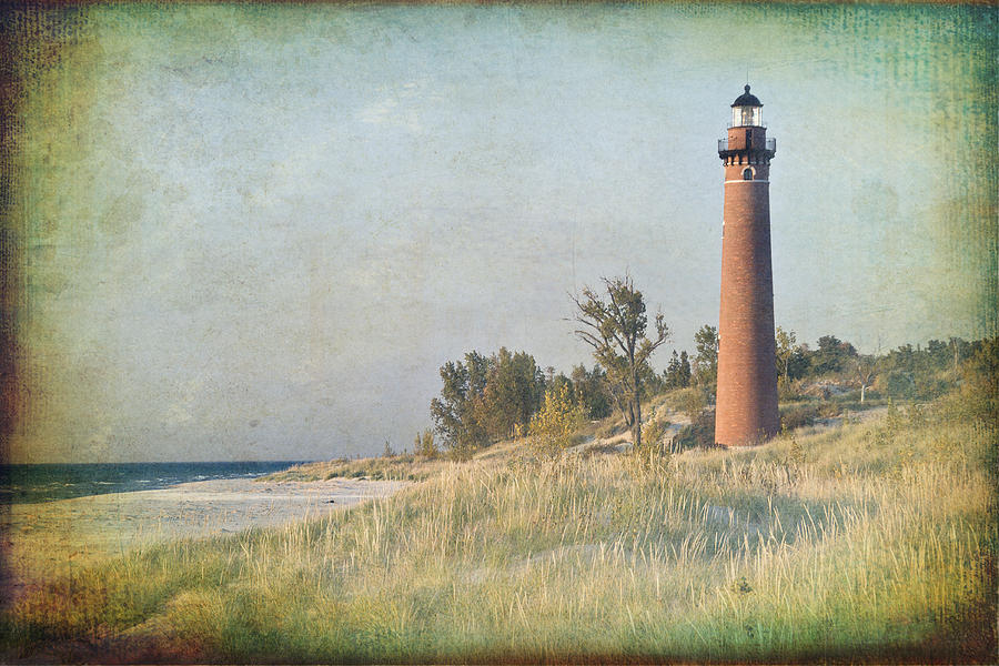 Lighthouse Photograph - Little Sable Lighthouse by Leo Cumings
